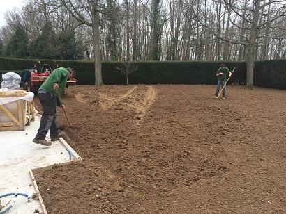 réalisation de terre fine
