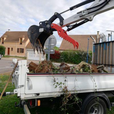 évacuation déchets ancienne clôture