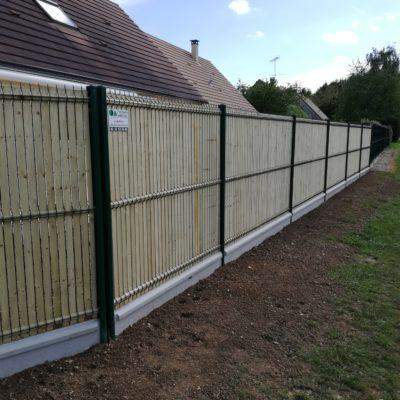 clôture panneaux rigides et occultants